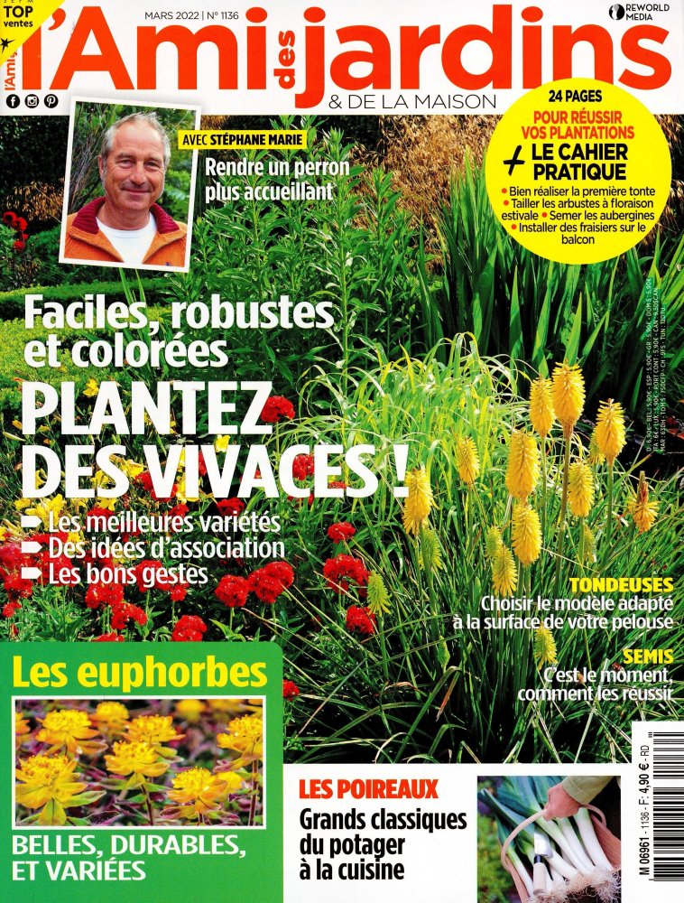 Abonnement l 39 ami des jardins et de la maison for Maison magazine abonnement